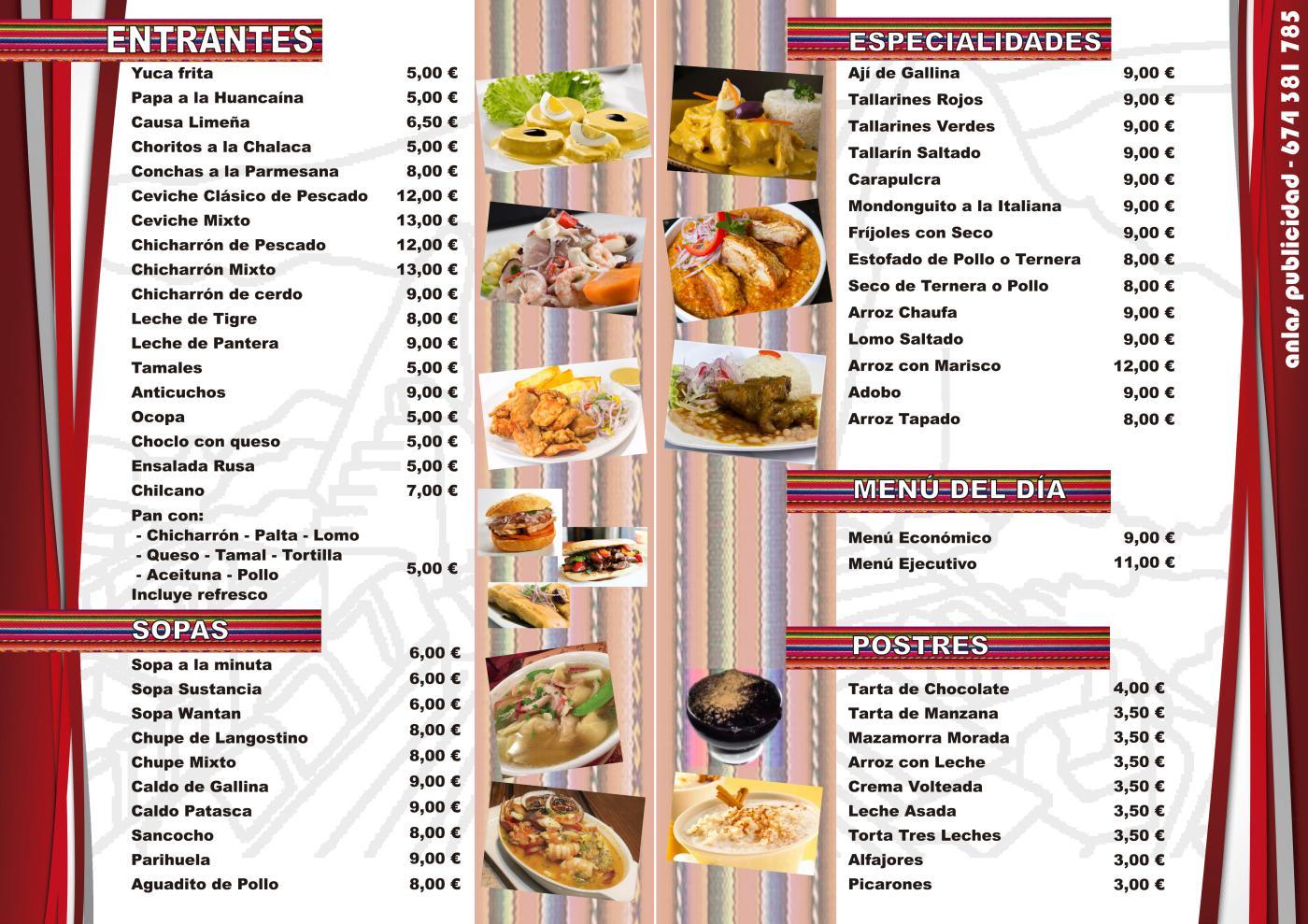 Pepita Perú Alicante - Carta